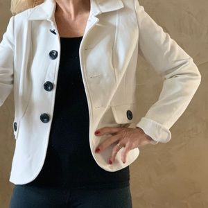 Nice lined white jacket. Size 4 but runs size big